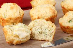 Buttered Biscuits Stock Photos