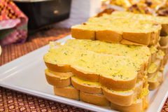 Buttered bread Stock Photography