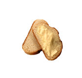 Buttered bread Royalty Free Stock Photography