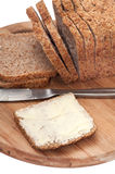 BUTTERED CEREALS BREAD HEALTHY Stock Image