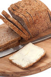 BUTTERED CEREALS BREAD HEALTHY Royalty Free Stock Photo