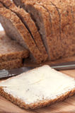 BUTTERED CEREALS BREAD HEALTHY Stock Photo