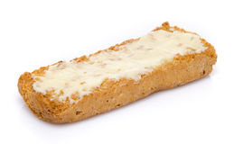 Buttered crisp toast Royalty Free Stock Image