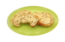 Buttered Crouissant Stock Images