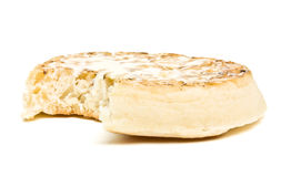 Buttered Crumpet. Traditional English Hot Buttered Crumpet with melting butter Royalty Free Stock Photography