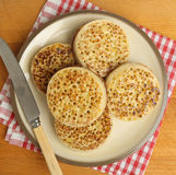 Buttered Crumpets Royalty Free Stock Images