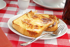 Buttered french toast. A plate of buttered french toast Royalty Free Stock Images