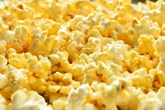 Buttered Popcorn Close Up stock image