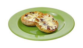 Buttered Raisin English Muffin Stock Photos
