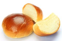 Buttered roll Stock Image