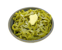 Buttered Spinach Pasta Pamesan Cheese Royalty Free Stock Images