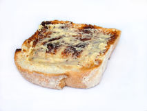 Buttered toast. Yummy buttered toast royalty free stock photo