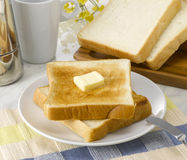 Buttered Toast Stock Photography