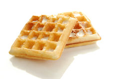 Buttered waffle Stock Image