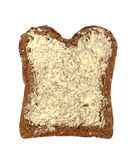 Buttered wholemeal bread Stock Image