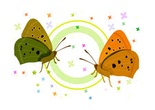 Butterfiles. Four butterflies in different colors. ai file available Stock Image