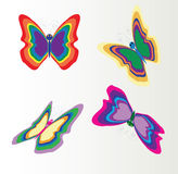 Butterflies. Retro butterflies colection,  image Royalty Free Stock Image