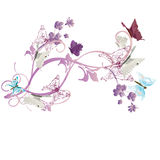 Butterflies. Illustration of a decorative background with butterflies Royalty Free Stock Photos