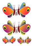 Butterflies. Multicolored, decorative butterflies for manifold possible uses Royalty Free Stock Photo