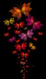 Butterflies. Lots of colorful abstract butterflies Stock Photography