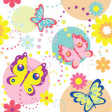 Butterflies. Decorative seamless pattern with butterflies royalty free illustration