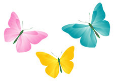 Butterflies. This is a vector image - you can edit colors and shapes stock illustration