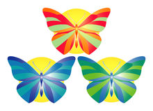 Butterflies. This is a vector image - you can edit colors and shapes Royalty Free Stock Photography