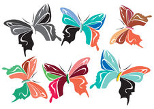 Butterflies. For use your logo and creative work vector illustration