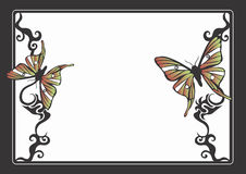 Butterflies. Decorative border with butterflies Royalty Free Stock Photography