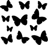 Butterflies. Illustration of a bunch of butterflies Royalty Free Stock Photography
