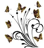 Butterflies. Beautiful butterflies against abstract colours Stock Illustration