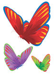 Butterflies. Set of multi-coloured butterflies Royalty Free Stock Images