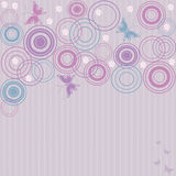 Butterflies. Abstract pink background with butterflies and flowers Stock Images