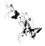Butterflies. Abstract Butterflies Design In Black and White Royalty Free Stock Photography