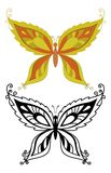 Butterflies with abstract pattern Royalty Free Stock Image