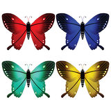 Butterflies against white Royalty Free Stock Photos