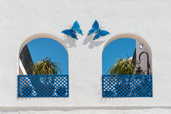 Butterflies and Arches Stock Photography