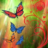 Butterflies artistic background Royalty Free Stock Photos