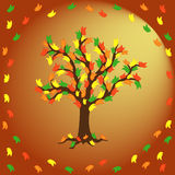 Butterflies on the autumn tree Stock Images