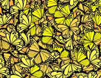 Butterflies background. Many butterflies background, individual objects in  format Stock Photography