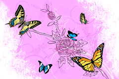 Butterflies background Stock Images