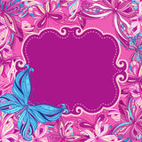 Butterflies Background Design Stock Photos