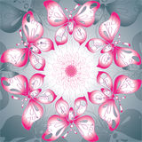 Butterflies background purple-white Royalty Free Stock Images