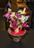 Butterflies and Birds exhibit inside Maison Cailler Chocolate Factory Broc-Gruyere, Switzerland Royalty Free Stock Photo