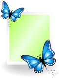 Butterfly message board Royalty Free Stock Images