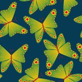 Seamless pattern with butterflies. royalty free illustration