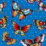 Butterflies on blue Royalty Free Stock Images