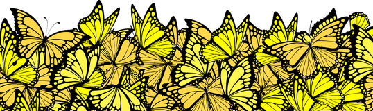 Butterflies border Royalty Free Stock Photo