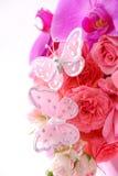 Butterflies on bouquet Stock Image