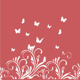 Butterflies and branches Royalty Free Stock Photos